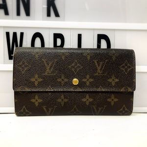 Louis Vuitton Sarah Trifold Monogram Long Wallet